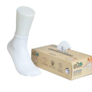 קופסת 28 זוגות גרבי בוגרים פוליז, צבע לבן