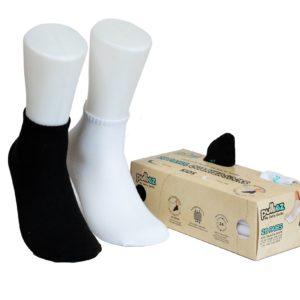 קופסת 28 זוגות גרבי ילדים פוליז Black & White, צבע לבן + צבע שחור