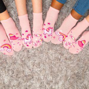 מארז 7 זוגות גרבי ילדים פוליז Mix & Fun, חד קרן