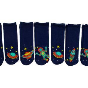 מארז 7 זוגות גרבי ילדים פוליז Mix & Fun, חלל