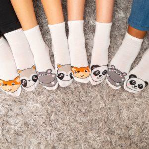 מארז 7 זוגות גרבי ילדים פוליז Mix & Fun, חיות