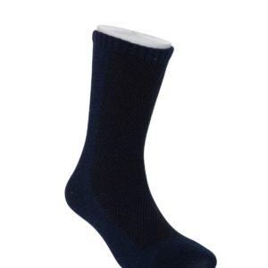 קופסת 14 זוגות גרבי בייסיק פוליז לבוגרים בצבע כחול נייבי