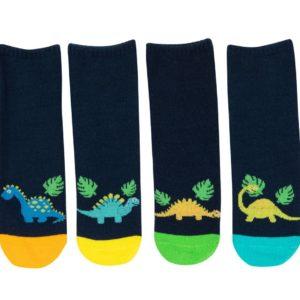מארז 6 זוגות גרבי כותנה מעוצבים לילדים דגם דינוזאור